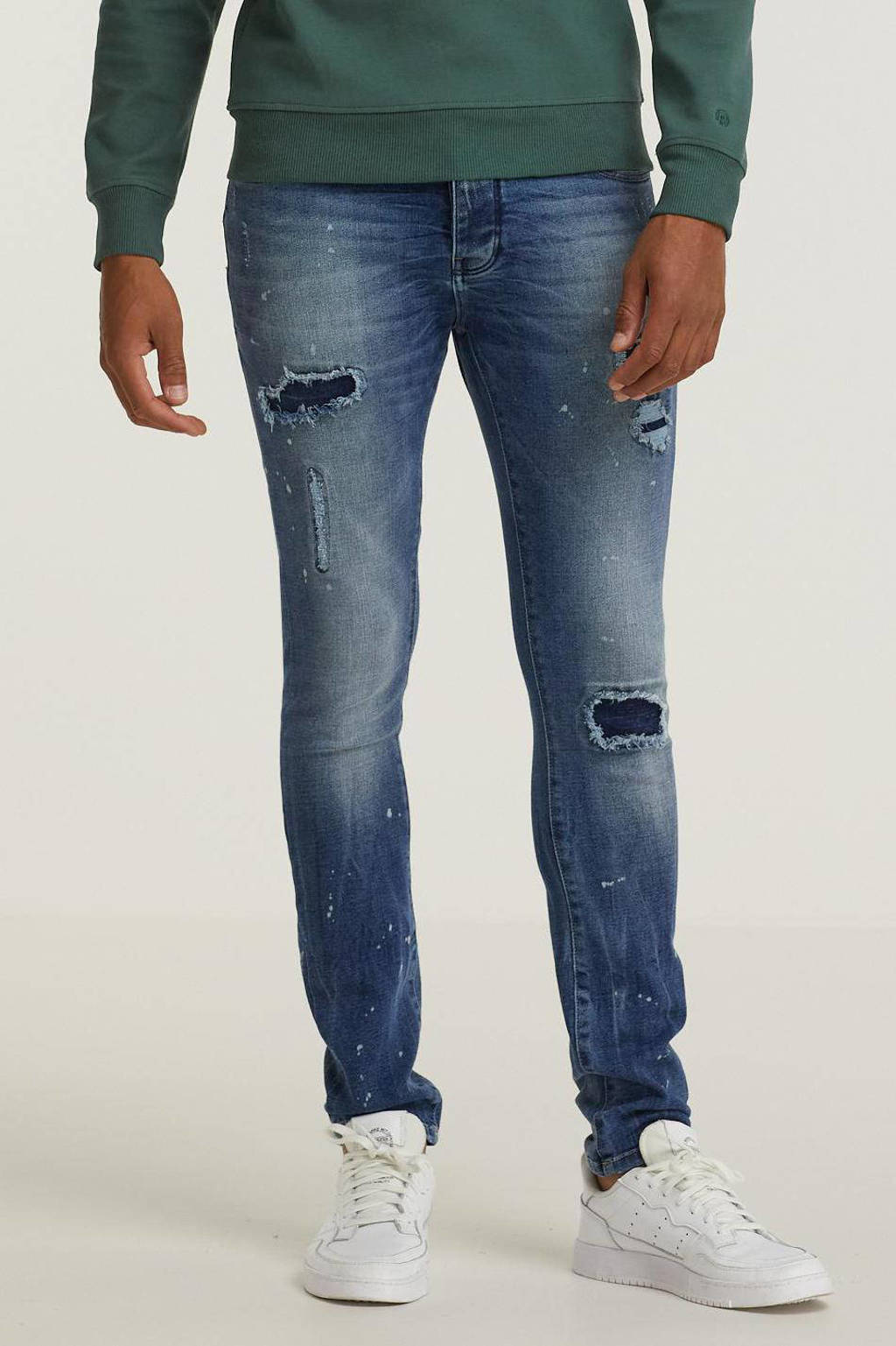 Raizzed super skinny jeans Jungle 02 mid blue stone, 02 Mid Blue Stone