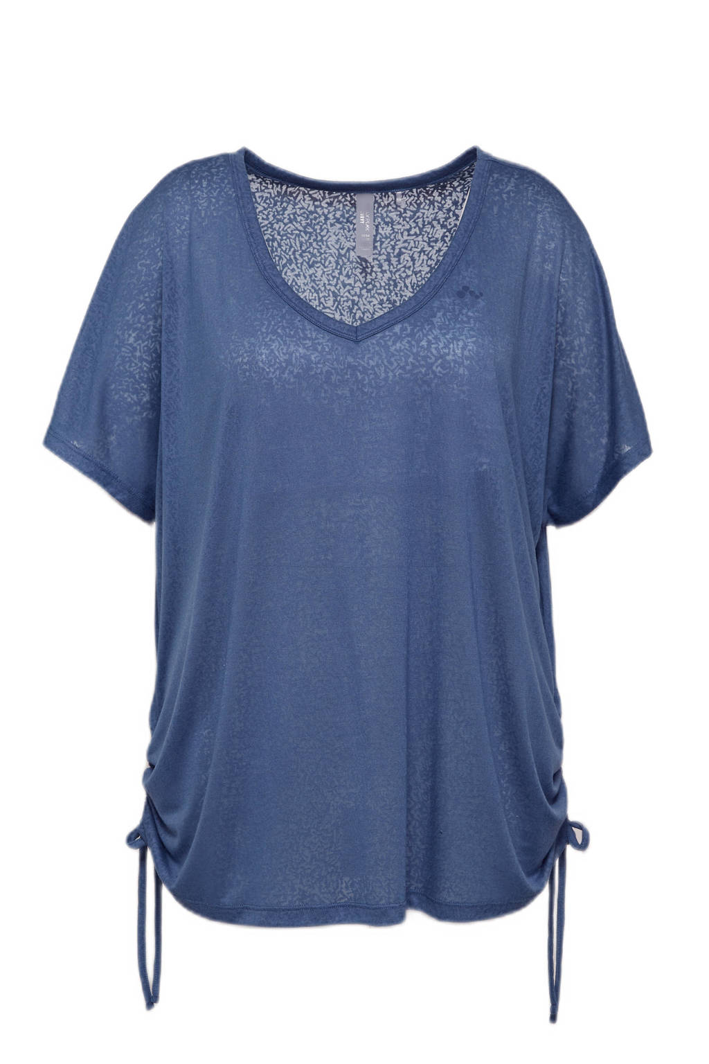 Only Play Curvy Plus Size sport T-shirt ONPJIVAN blauw, Blauw