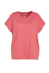 Only Play Curvy sport T-shirt ONPAUBREE roze, Roze