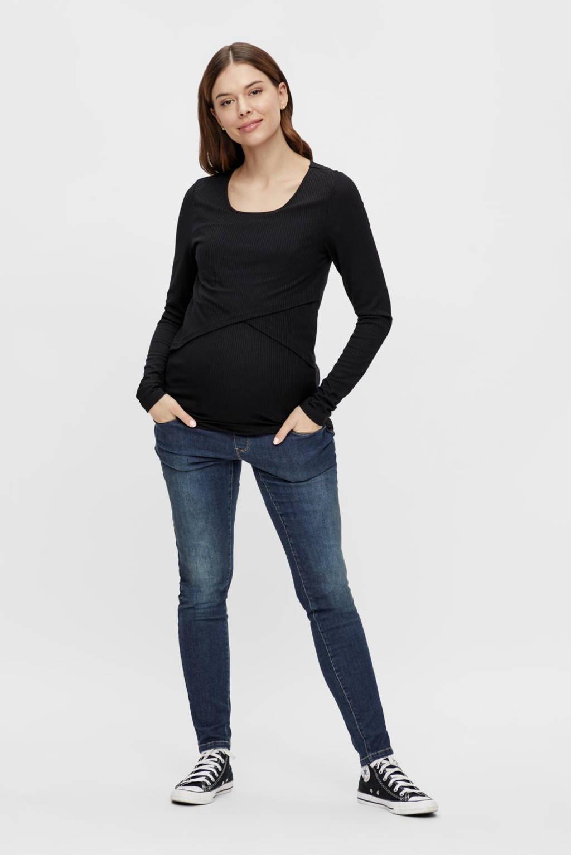 MAMALICIOUS zwangerschapstop MLCARMA zwart, Zwart