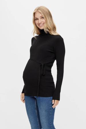 ribgebreide zwangerschapstop MLJACINA zwart