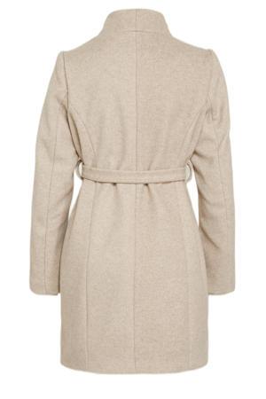 zwangerschaps coat MLNEWROXY van gerecycled polyester beige