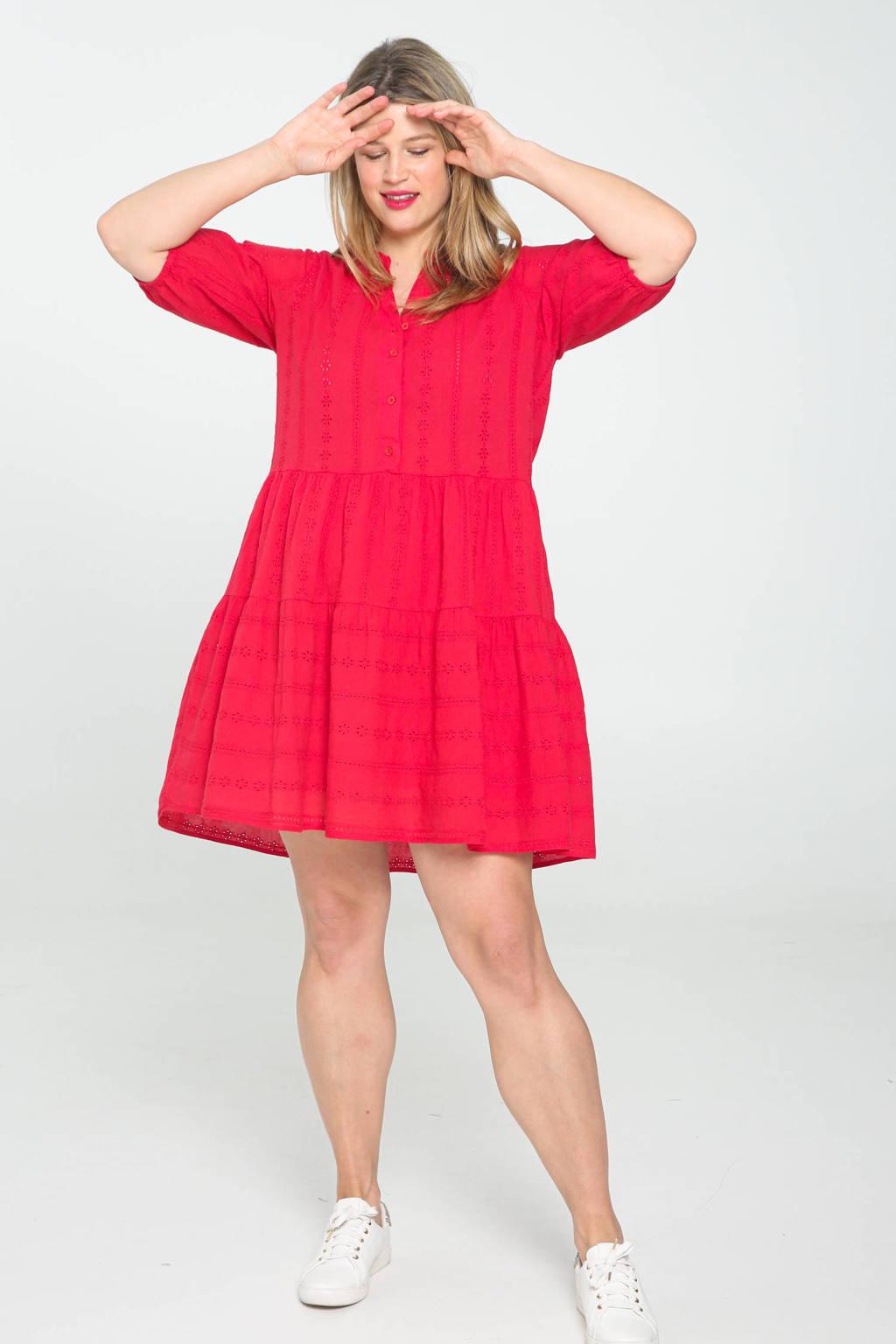 Paprika A-lijn jurk rood, Rood