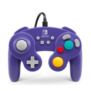 Nintendo Switch Wired controller Gamecube Style paars