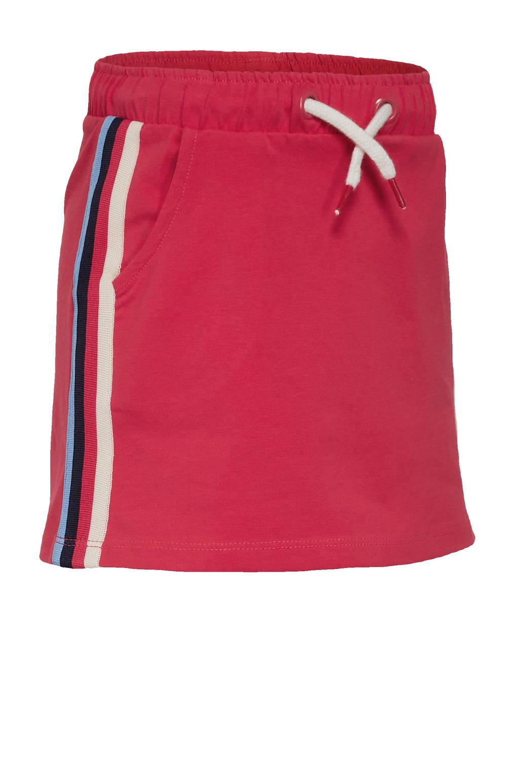 C&A Palomino rok met contrastbies rood/ecru/blauw, Rood/ecru/blauw