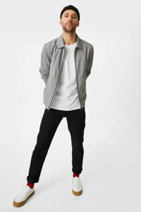 C&A T-shirt - (set van 3), Wit/zwart/grijs