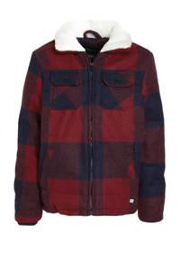 Cars geruite  winterjas Derulo rood/donkerblauw, Rood/donkerblauw