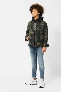 America Today Junior overhemd Howe met camouflageprint en patches camouflage, Camouflage