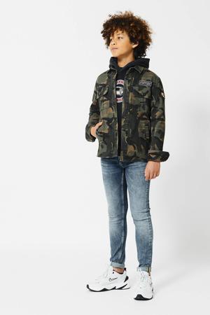 overhemd Howe met camouflageprint en patches camouflage