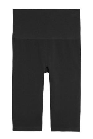 high waist skinny broek Second Skin zwart