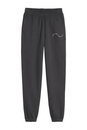 loose fit joggingbroek Easy Going met biologisch katoen zwart