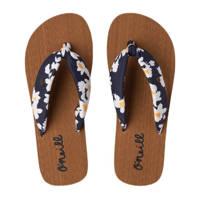 O'Neill Woven Strap Sandals  teenslippers met bloemenprint blauw/geel, Blauw/geel