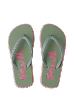 Logo Sandals  teenslippers mintgroen