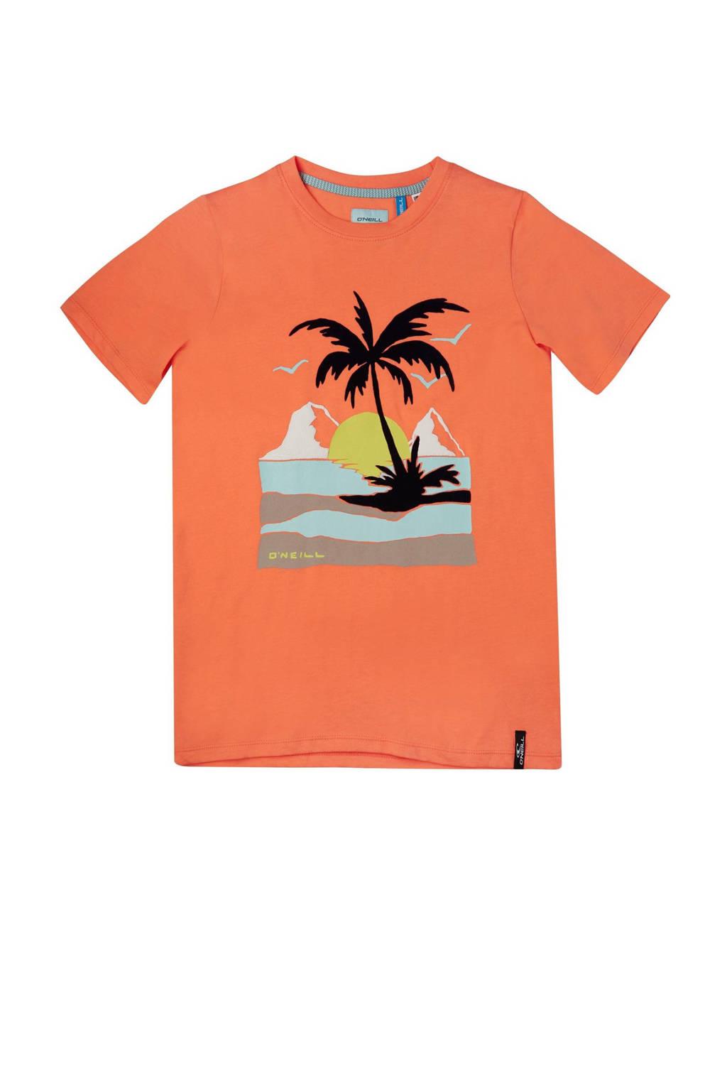 O'Neill Blue T-shirt Palm met printopdruk oranje, Oranje