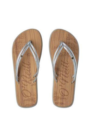 Ditsy Sandals  teenslippers zilver