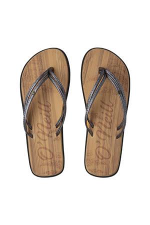 Ditsy Sandals  teenslippers metallic