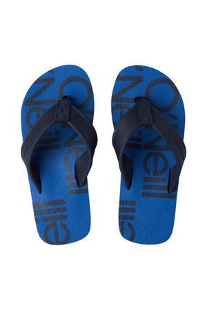 Arch Print Sandals  teenslippers blauw