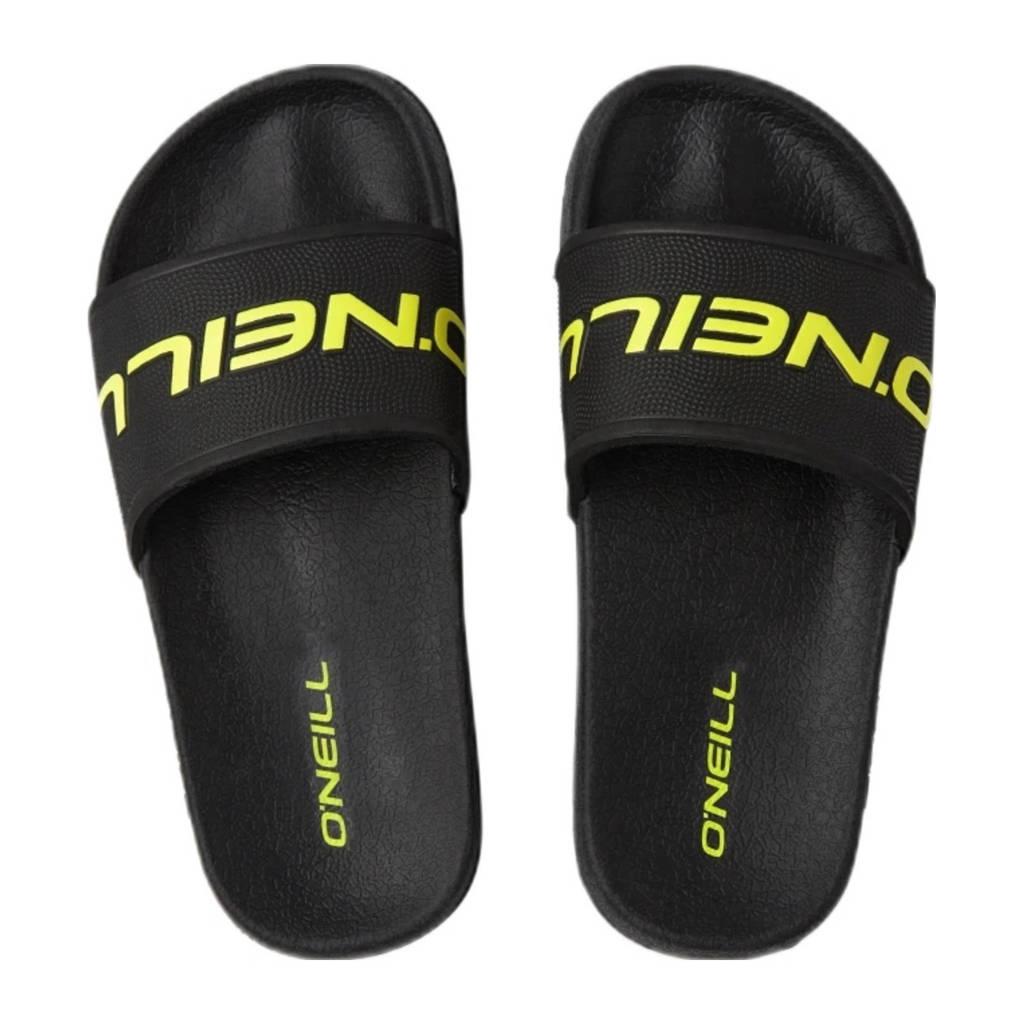O'Neill Cali Slide Sandals  badslippers zwart/geel, Zwart/geel