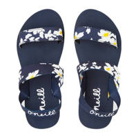 O'Neill Mia Flower Strap Sandals  sandalen met bloemenprint blauw, Blauw/wit/geel