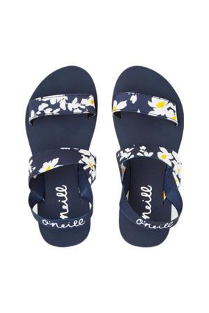 Mia Flower Strap Sandals  sandalen met bloemenprint blauw