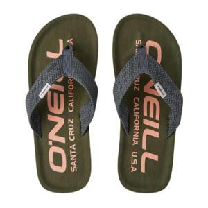 Chad Logo Sandals  teenslippers olijfgroen