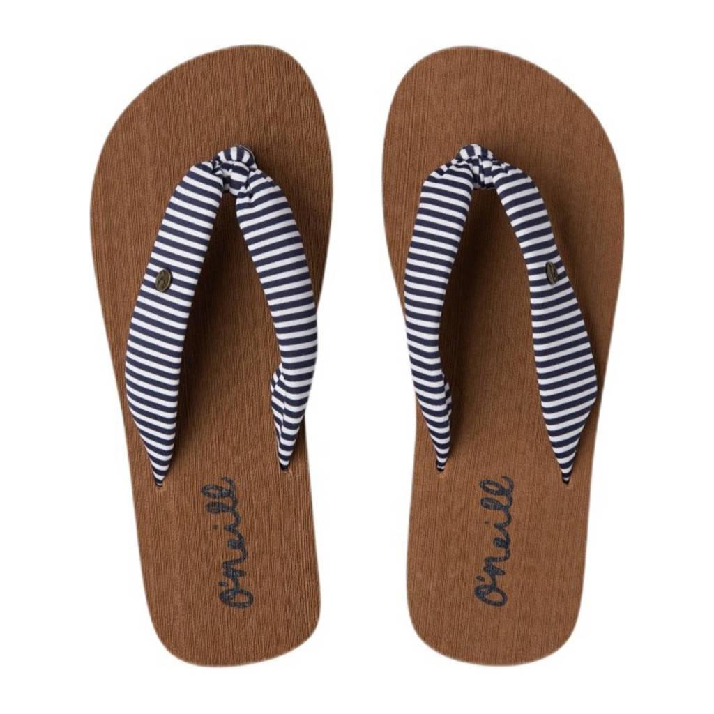 O'Neill Woven Strap Sandals  gestreepte teenslippers blauw/wit, Blauw/wit