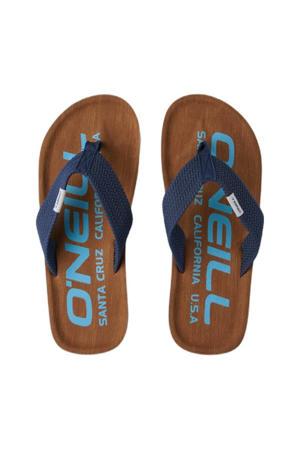Chad Logo Sandals  teenslippers bruin/blauw