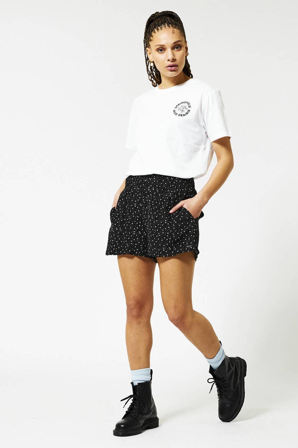 America Today short Nadine met all over print zwart/wit, Zwart/wit