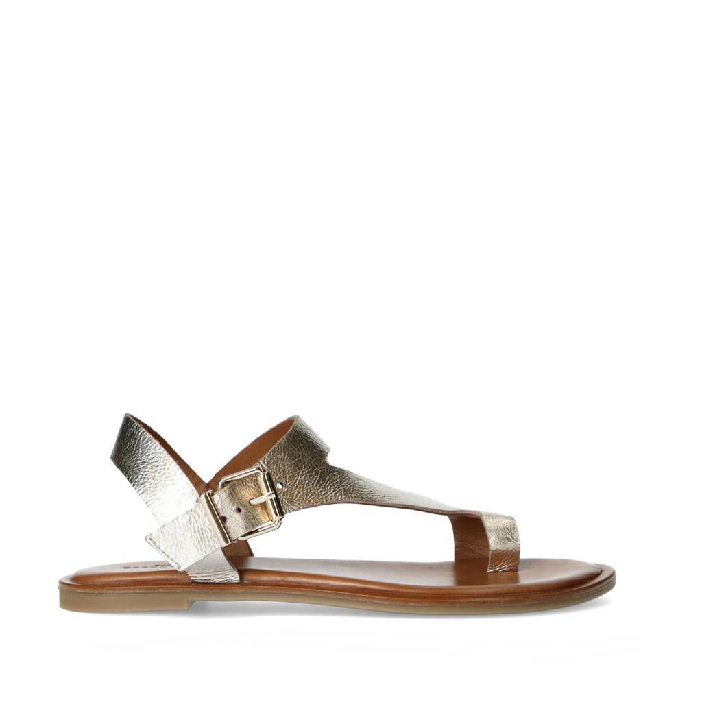 Sacha   leren sandalen goud, Goud