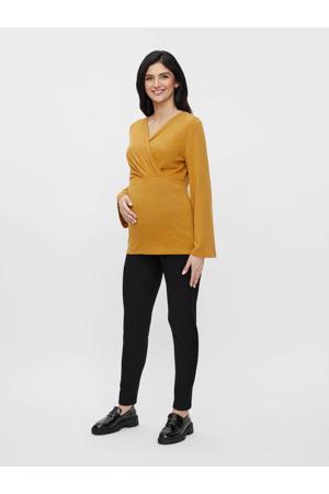 zwangerschaps- en voedingstop MLNATI van gerecycled polyester oker