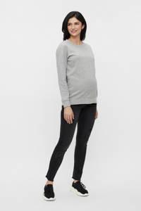 MAMALICIOUS low waist slim fit zwangerschapsjeans MLTARAGONA zwart, Zwart