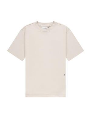 T-shirt van biologisch katoen pumice stone