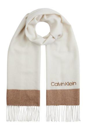 sjaal ecru/bruin