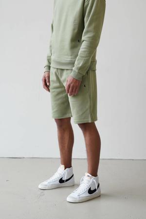 regular fit sweatshort oil green