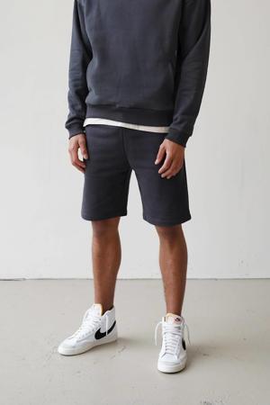 regular fit sweatshort antraciet