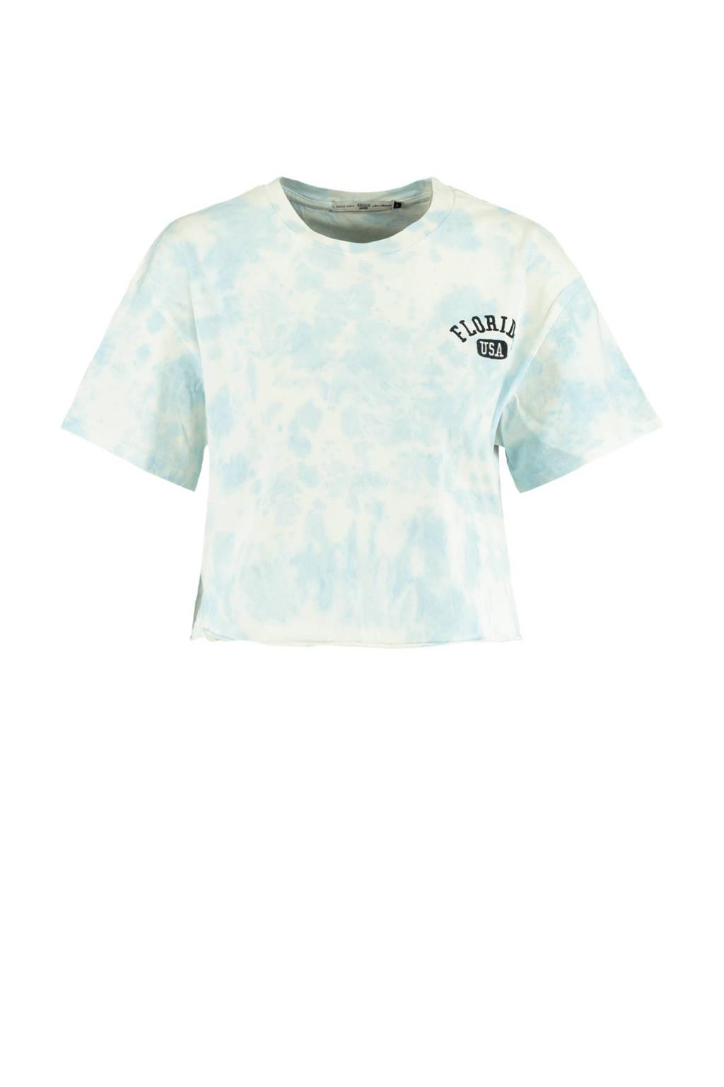 America Today tie-dye T-shirt lichtblauw, Lichtblauw