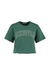 America Today T-shirt met printopdruk groen, Groen