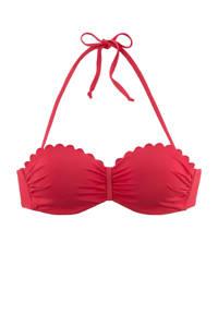 Lascana strapless bandeau bikinitop rood, Rood