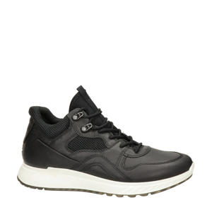 St.1  hoge leren sneakers zwart