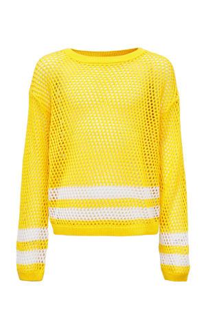 gestreepte trui geel