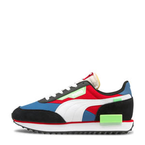 Future Rider Play On sneakers zwart/wit/blauw/rood