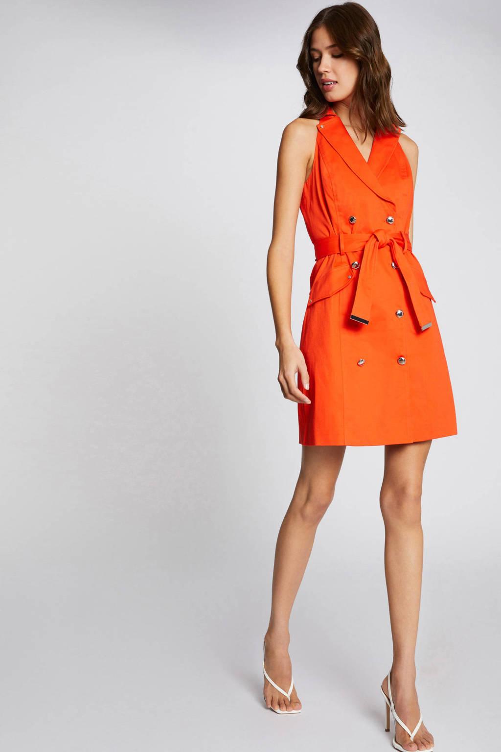 Morgan blazerjurk met ceintuur oranje, Oranje