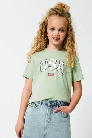 T-shirt Elly van biologisch katoen mintgroen