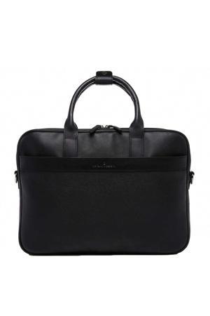 15,6 inch leren business tas Vivo zwart