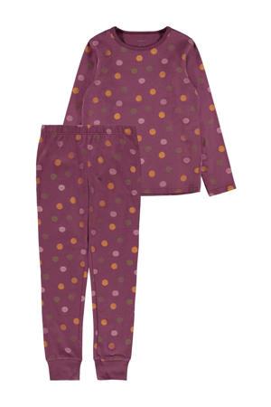 pyjama met stippen paars