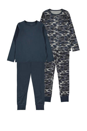 pyjama - set van 2 donkerblauw