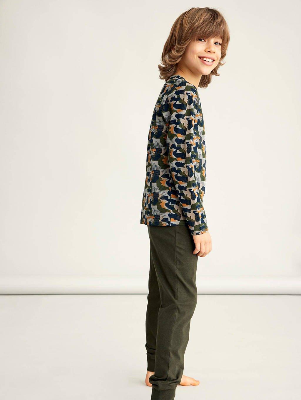 NAME IT KIDS   pyjama donkergroen, Donkergroen