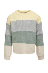 KIDS ONLY gestreepte trui KONSANDY groen/lichtgeel/lichtblauw