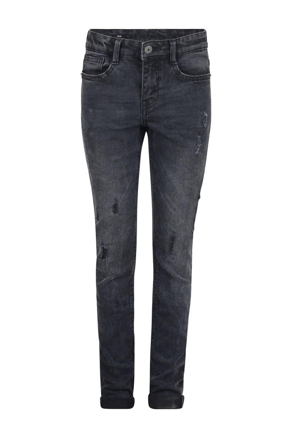 Shoeby Jill & Mitch slim fit jeans black denim, Black denim