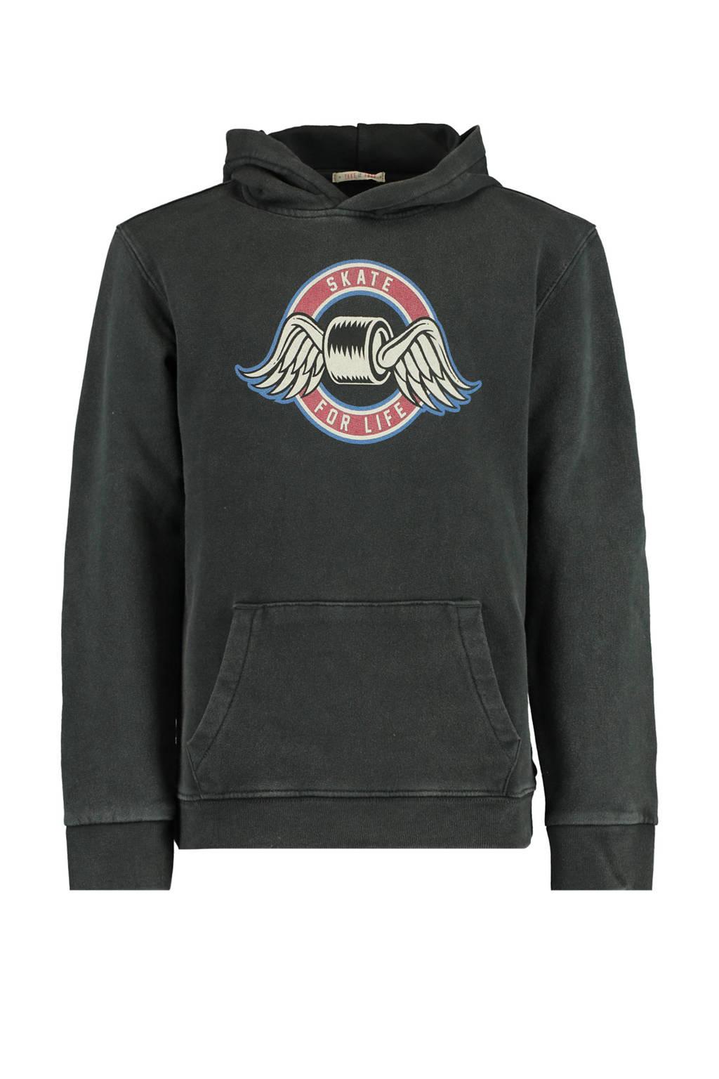 America Today Junior hoodie Shawn met printopdruk washed black